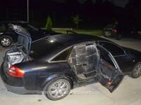 Un Audi abandonat pe marginea drumului, descoperit de Poliția de Frontieră. Conținea marfă de aproape 200.000 de lei