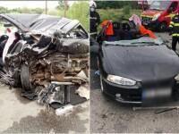 Accident cu 3 mașini provocat de un șofer băut. Patru oameni au ajuns la spital