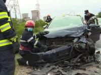 """Grav accident de circulație pe DN 71. Trei copii și trei adulți au fost răniți: """"A intrat în depășire careva"""""""