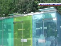 Toalete publice transparente, amplasate într-un parc din Japonia. Cum funcționează