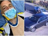 Momentul în care pilotul de raliuri Alex Filip a fost lovit intenționat de un șofer în timp ce era pe bicicletă