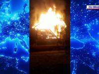 Incendiu devastator în județul Brașov. O casă a ars ca o torță până la temelie