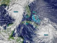 Furtunile tropicale Marco şi Laura, fotografiate din spaţiu de NASA
