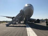VIDEO. Aterizare cu probleme pe Aeroportul Băneasa. 64 de persoane se aflau la bordul aeronavei