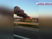 Incendiu violent la Craiova. De la ce au pornit flăcările