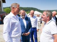"""Klaus Iohannis s-a întâlnit cu Gheorghe Hagi la Festivalul """"Săptămâna Haferland"""" din Brașov"""