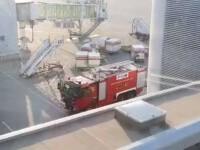 Degajare de fum la Aeroportul \