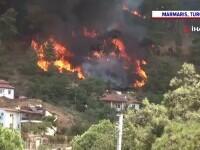 Incendiile de vegetatie fac ravagii în Turcia. Flăcările amenință hotelurile, iar turiștii sunt evacuați de pe plaje