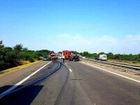 Accident mortal pe autostrada A1. Traficul este blocat