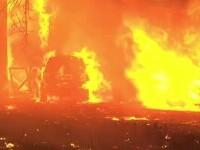 Incendiu devastator în SUA. Un oraș a fost mistuit de flăcări, în doar câteva ore