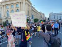 """Marşul Bucharest Pride a avut loc în Capitală. """"Sa nu mai fim atât de discriminați"""". Contramanifestație a Noii Drepte"""