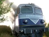 """Încă un incendiu la locomotiva unui tren. Pasager: """"Este o rușine pentru România"""""""