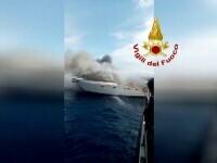 Un iaht cu 13 persoane la bord a luat foc, în Italia