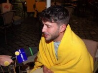 """Vreme neașteptat de rece. Cei care au ieșit la terase au cerut pături și încălzitoare: """"Sperăm să revină vara"""""""