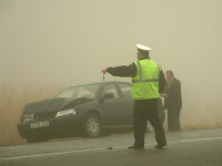 Inconstienta fara limite! Gonea cu 203 km/h pe DN1, in plina ceata!