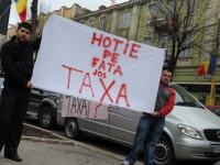 Au fost arestati primii romani care au protestat violent contra taxei auto!