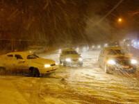 Ninsoarea ameninta sa transforme strazile din Bucuresti in patinoare