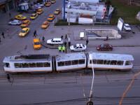 Un tramvai a deraiat pe Bulevardul Basarabia din Capitala