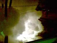 Accident de proportii: 3 masini au luat foc, alte 2 au fost grav avariate