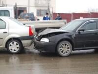 Accident cu masina furata!