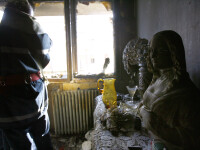 Incendiu intr-un bloc din centrul Capitalei