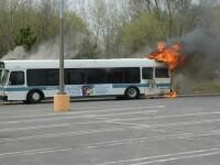 Autobuz in flacari la Alba Iulia