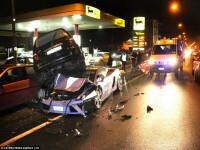 Lamborghini de 160.000 de euro facut praf. Mai conteaza ca era al politiei?