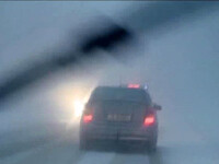Iarna in Postul Pastelui.Drumuri blocate, copaci cazuti, sate rupte de lume