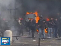 Violente de strada in Roma. Guvernul Berlusconi a supravietuit motiunii