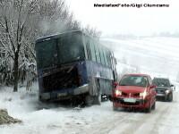 Trafic rutier de iarna in mai multe judete! Vezi drumurile cu probleme