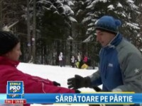 Craciunul a fost alb la munte. Cum s-a simtit distractia pe partiile de schi. VIDEO