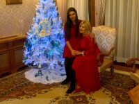 EBA publica pe Twitter doua imagini realizate de Sarbatori: cu tatal ei si cu Elena Udrea
