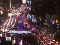 Bucurestiul si-a aprins luminile, in ajun de Mos Nicolae. Cum a aratat centrul Capitalei. VIDEO