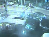 In 10 secunde a distrus opt masini parcate. Isprava unui tanar care s-a urcat la volan fara carnet