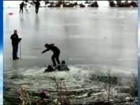 Au mers la patinaj pe un lac inghetat, insa ce a urmat a starnit panica si disperare