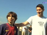 Fotbalistul fara picioare: Un baiat de 11 ani, nascut cu un handicap, a jucat cu Messi, la Barcelona
