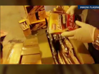 Captura impresionanta de heroina la iesirea din Romania. 75 de kg, confiscate de politisti