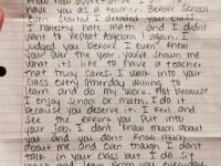 Cel mai emotionant cadou primit de o profesoara. Ce scrisoare i-a trimis un elev