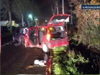 Un roman baut si aflat sub influenta drogurilor a provocat un accident cu cinci raniti la Roma