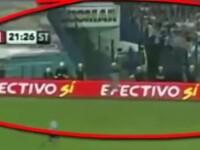 Presupusa fantoma a unui sportiv, filmata la antrenamente in timpul unui meci de fotbal din Argentina. VIDEO