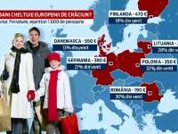 Romanii, campionii Europei la cumparaturi de Craciun. Procentul important din venituri cheltuit pe cadouri si masa festiva