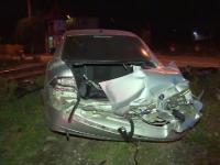 Un tanar a scapat cu viata dupa ce masina lui a fost lovita de tren, in Dambovita. Cum s-a petrecut accidentul
