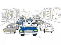 Efectul de unda in trafic, analizat de cercetatori: \