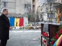 40 de zile de la Colectiv. Klaus Iohannis a mers la locul tragediei: