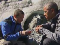 Barack Obama si Bear Grylls, in salbaticie. Presedintele american a mancat resturi de la masa unui urs