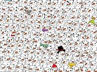 Puzzle-ul care a scos din minti pe toata lumea. Poti sa gasesti ursul panda in multimea de oameni de zapada?