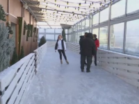 Patinoarul de Cartea Recordurilor din Moscova, amplasat la etajul 86. Cat costa intrarea