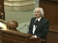 Prima sedinta de plen a noului Parlament. Leon Danaila a fost presedinte, datorita varstei: