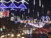 3.000.000 de luminițe, în formă de ie, clop sau horă, au fost aprinse în Capitală