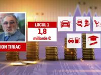 """""""Top 300 cei mai bogaţi români"""". Ion Țiriac conduce clasamentul cu 1,8 miliarde euro"""